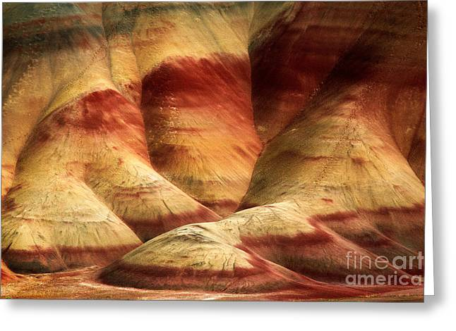 Fossils Greeting Cards - John Day Martian Landscape Greeting Card by Inge Johnsson