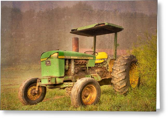 Nc Fine Art Greeting Cards - John Deere 2440 Greeting Card by Debra and Dave Vanderlaan