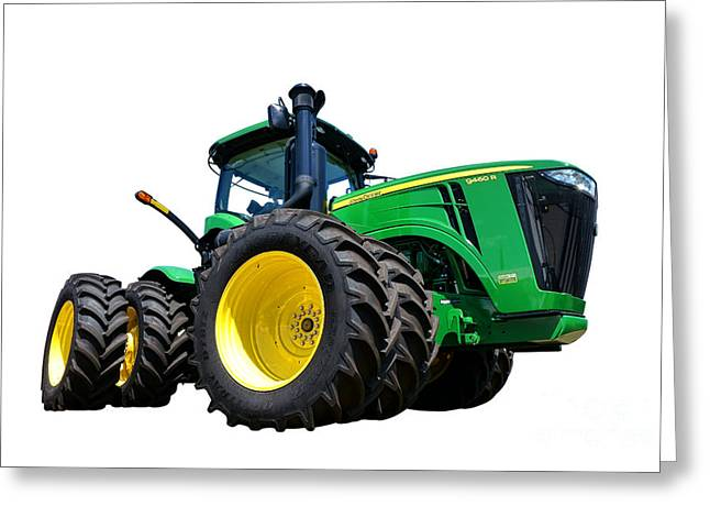 Duty Greeting Cards - John Deere 9460R Greeting Card by Olivier Le Queinec