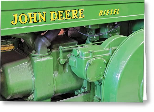 Enterprise Greeting Cards - John Deere Diesel Greeting Card by Susan Candelario