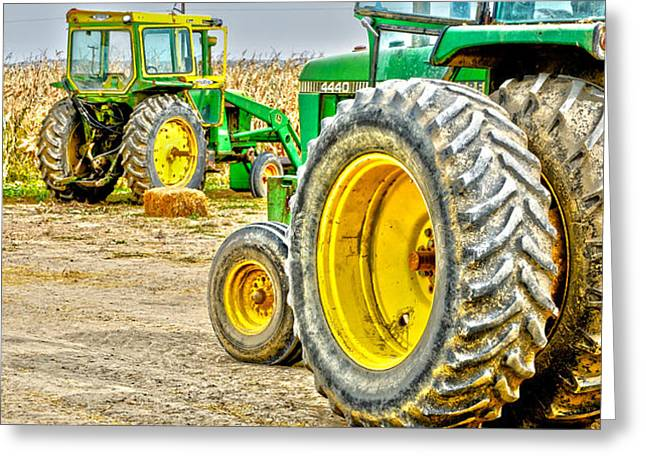 John Deere Greeting Card by Baywest Imaging