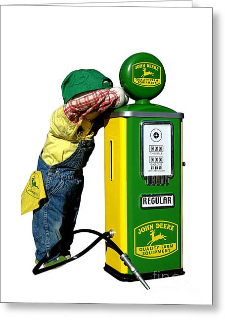 Child Toy Greeting Cards - John Deere Kid Greeting Card by Olivier Le Queinec