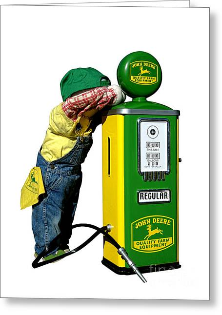 Authentic Greeting Cards - John Deere Kid Greeting Card by Olivier Le Queinec
