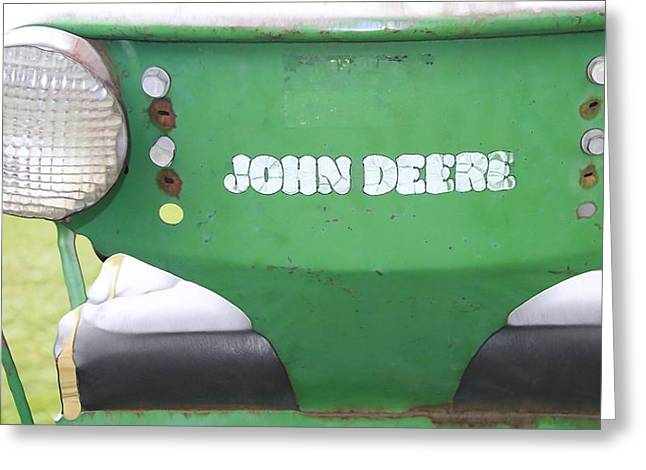 Gears Mixed Media Greeting Cards - John Deere Seat Greeting Card by Dan Sproul
