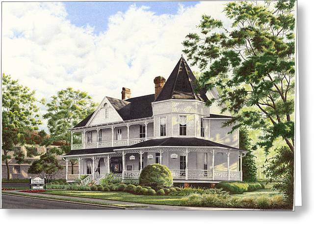 John Dunn House Ocala Florida Greeting Card by Richard Devine