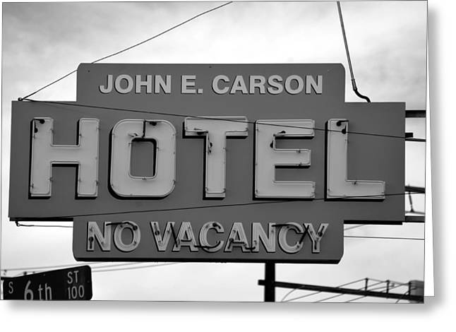 E Black Greeting Cards - John E Carson Hotel Greeting Card by David Lee Thompson