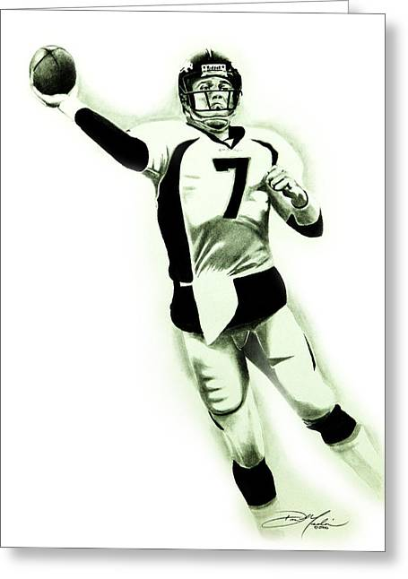 Elway Greeting Cards - John Elway Greeting Card by Don Medina