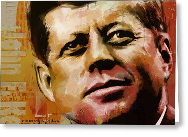 John F. Kennedy Greeting Card by Corporate Art Task Force