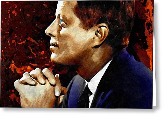 John F. Kennedy Greeting Card by Dancin Artworks