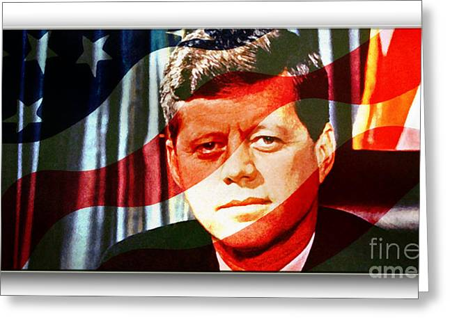 John Greeting Cards - John F Kennedy Painting Greeting Card by Marvin Blaine