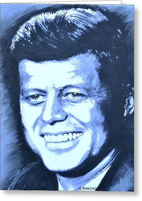 John F. Kennedy Greeting Card by Victor Minca