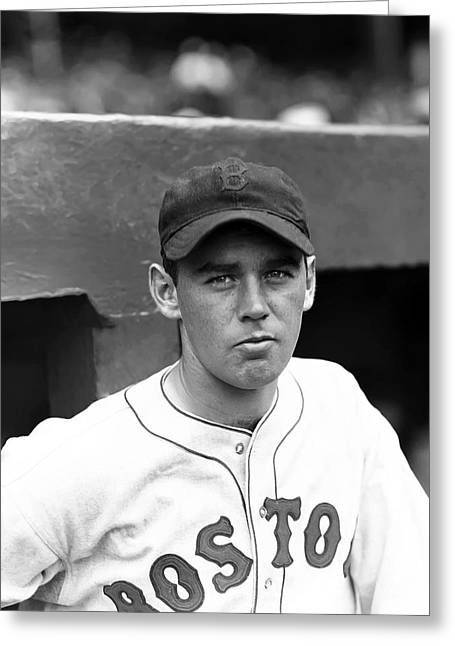 Boston Red Sox Greeting Cards - John F.Jack Wilson Greeting Card by Retro Images Archive