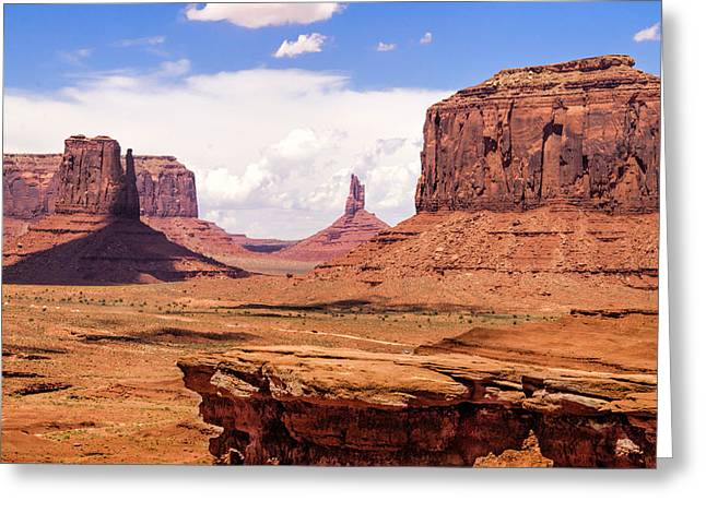 Recently Sold -  - The Plateaus Greeting Cards - John Ford Point - Monument Valley - Arizona Greeting Card by Jon Berghoff