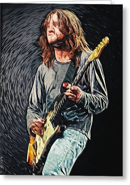 Taylan Soyturk Greeting Cards - John Frusciante Greeting Card by Taylan Soyturk