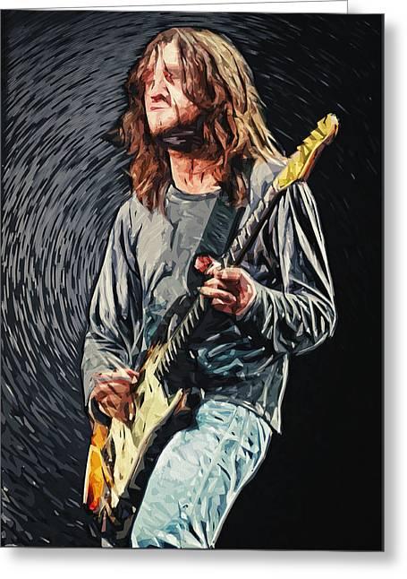David Bowie Greeting Cards - John Frusciante Greeting Card by Taylan Soyturk