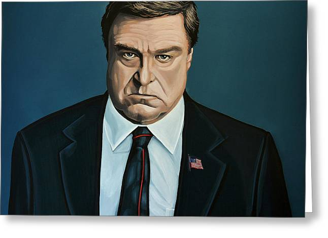 Connors Greeting Cards - John Goodman Greeting Card by Paul  Meijering