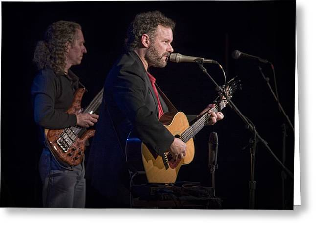 Music Time Greeting Cards - John Gorka and Michael Manring in Concert Greeting Card by Randall Nyhof