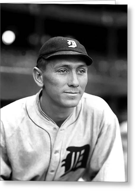 Detroit Tigers Photos Greeting Cards - John H. Johnny Neun Greeting Card by Retro Images Archive