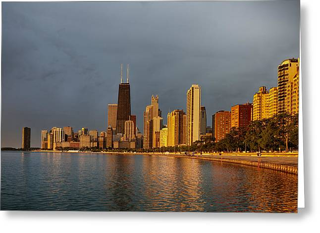 Lake Michigan Greeting Cards - John Hancock Building Greeting Card by Sebastian Musial