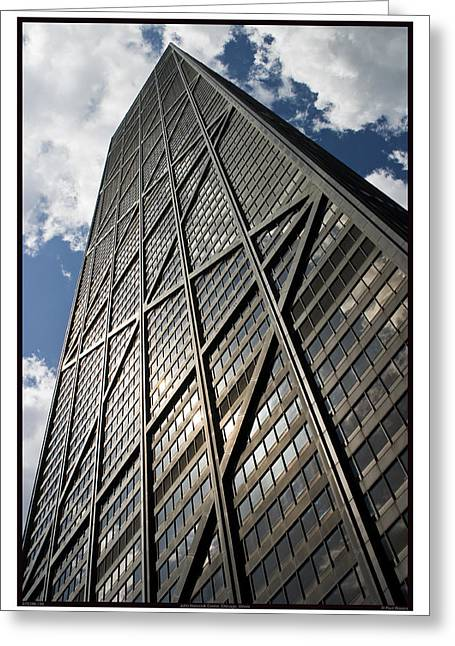 Magnificent Mile Greeting Cards - John Hancock Center - 07.31.09_130 Greeting Card by Paul Hasara