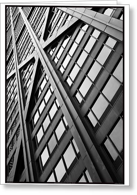 John Hancock Center - 09.20.09_041 Greeting Card by Paul Hasara