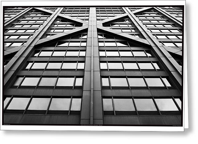 Magnificent Mile Greeting Cards - John Hancock Center - 09.20.09_042 Greeting Card by Paul Hasara