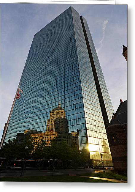 Boston Ma Greeting Cards - John Hancock Tower Greeting Card by Toby McGuire