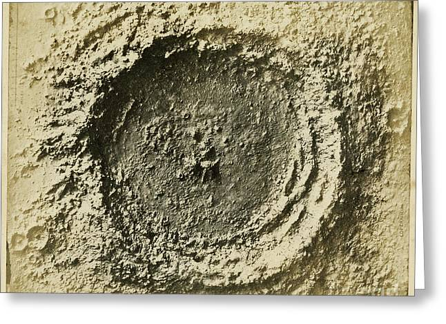 Papier Mache Greeting Cards - John Herschels Moon Crater C.1850s Greeting Card by Getty Research Institute