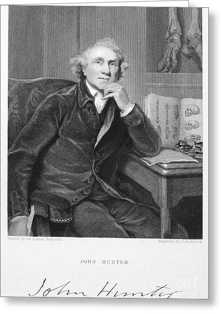 Autograph Greeting Cards - John Hunter (1728-1793) Greeting Card by Granger