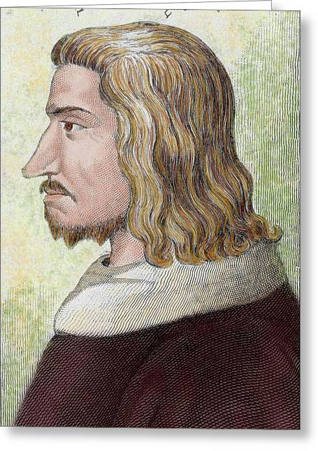 John II The Good (gue Of Maulny Castle Greeting Card by Prisma Archivo