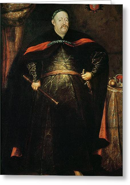 Full-length Portrait Greeting Cards - John Iii Sobieski 1629-96 Oil On Canvas Greeting Card by Alexandre Jan Tricius