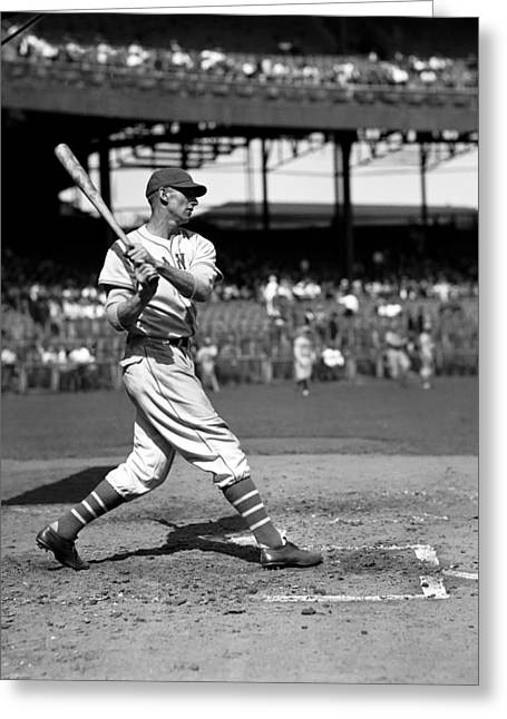 Baseball Bat Greeting Cards - John J. Johnny McCarthy Greeting Card by Retro Images Archive