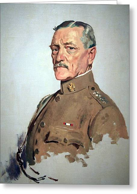 Orpen Greeting Cards - John J. Pershing -- General Of The Armies Greeting Card by Cora Wandel