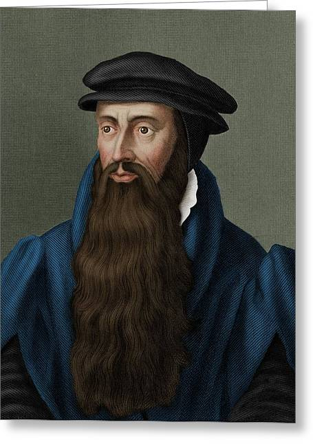 John Knox Greeting Card by Maria Platt-evans
