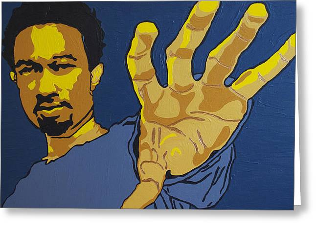 Rnb Greeting Cards - John Legend Greeting Card by Rachel Natalie Rawlins