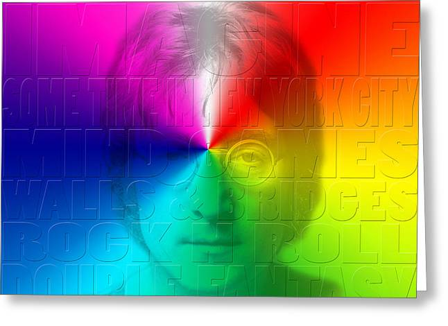 John Lennon 1 Greeting Card by Andrew Fare
