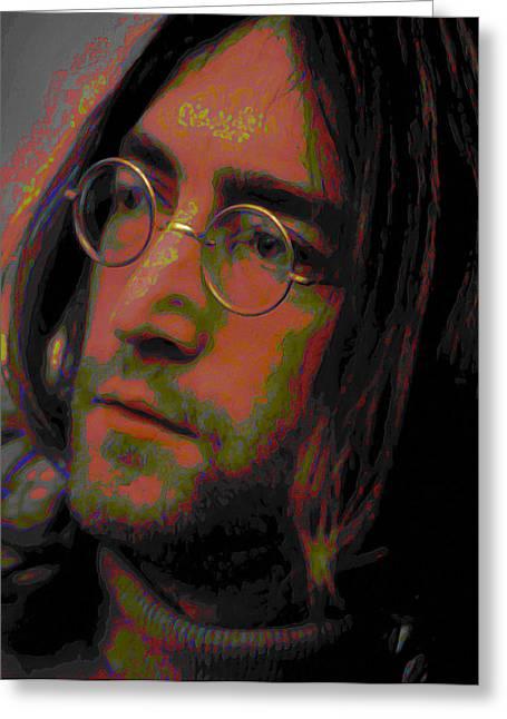 Song Writer Greeting Cards - John Lennon 2 Greeting Card by  Fli Art