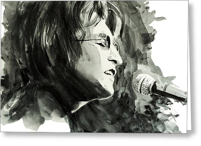 Paul Mccartney Drawings Greeting Cards - John Lennon 2 Greeting Card by MB Art factory