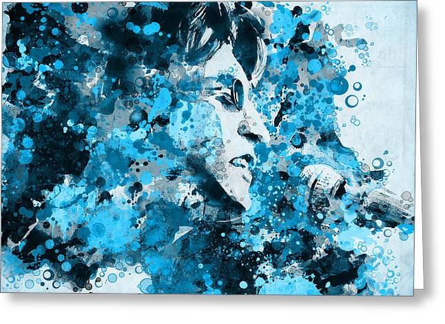 1960 Greeting Cards - John Lennon 5 Greeting Card by MB Art factory
