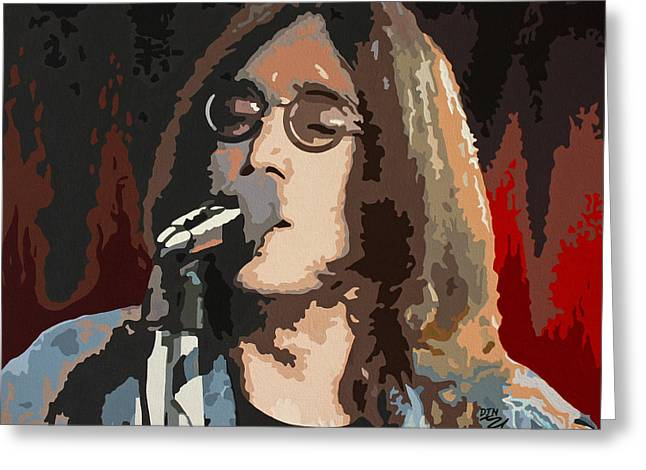 Peace Activist Greeting Cards - John Lennon Greeting Card by Dennis Nadeau