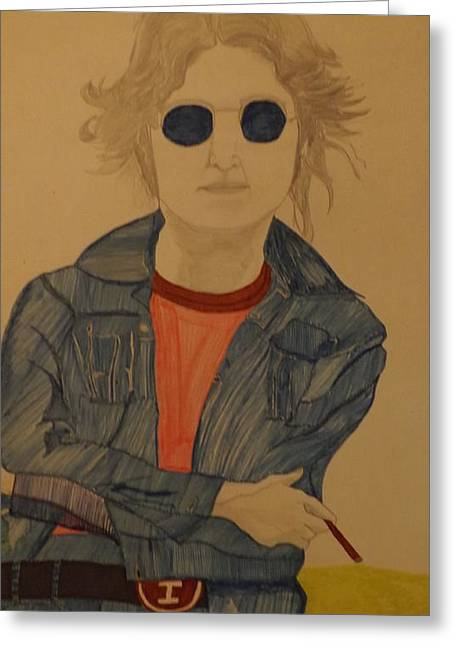 John Lennon Art Drawings Greeting Cards - John Lennon Greeting Card by Don Koester