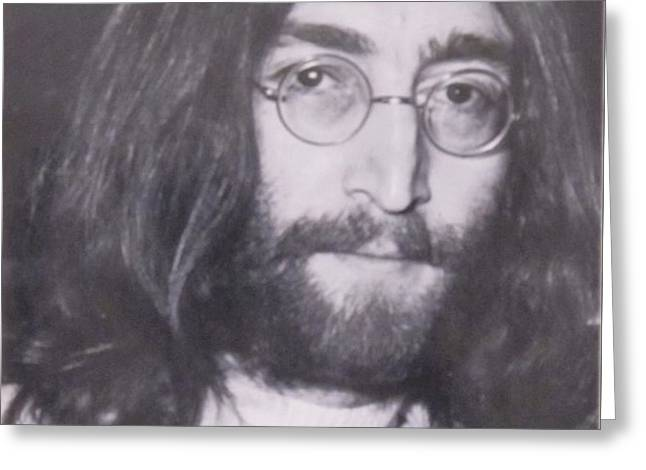 John Lennon Greeting Card by Donna Wilson