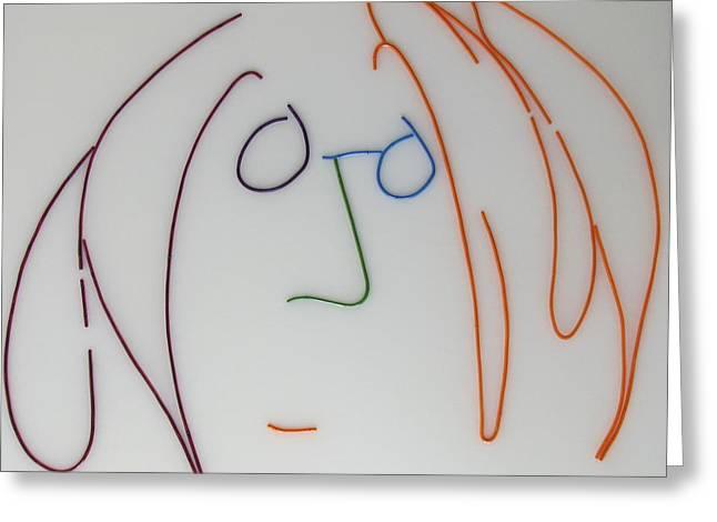 Imagine Mixed Media Greeting Cards - John Lennon Imagine by Peter Virgancz Greeting Card by Peter Virgancz