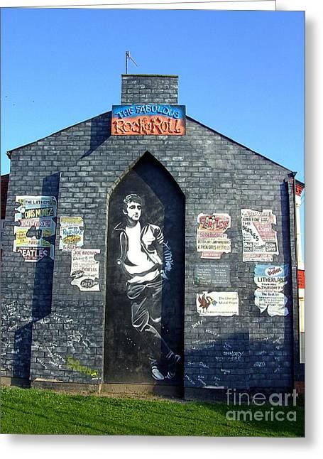 Sgt Pepper Photographs Greeting Cards - John Lennon Mural Liverpool UK Greeting Card by Steve Kearns