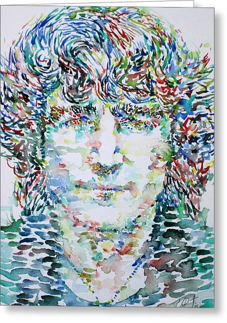 John Lennon Images Greeting Cards - John Lennon Portrait.1 Greeting Card by Fabrizio Cassetta