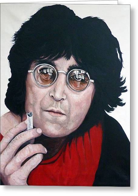 We All Shine On Greeting Cards - John Lennon Greeting Card by Tom Roderick