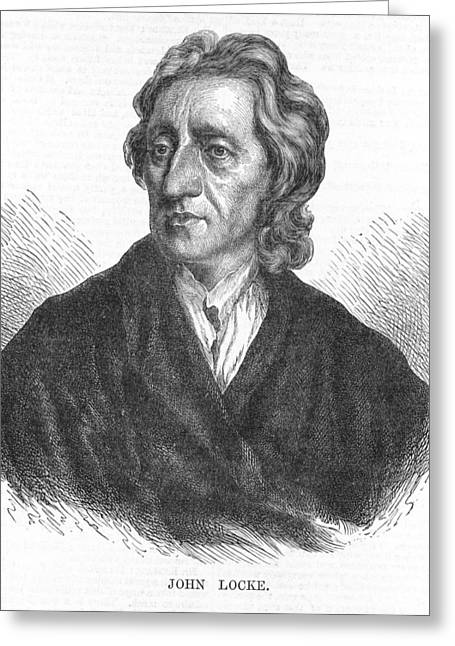 17th C Greeting Cards - John Locke, English philosopher Greeting Card by Science Photo Library