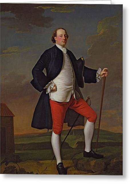 Full Length Photographs Greeting Cards - John Manners, Marquess Of Granby, 1745 Greeting Card by Allan Ramsay