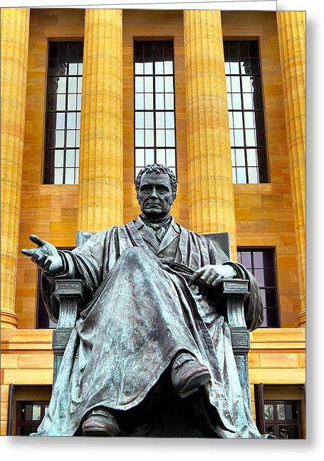 Chief Justice Greeting Cards - John Marshall Greeting Card by Michelle Milano