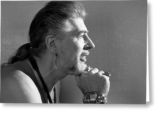 The Bluesbreakers Greeting Cards - John Mayall Profile Greeting Card by Nancy Clendaniel
